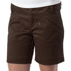 prAna Randie Shorts - Organic Cotton (For Women) in Dark Khaki