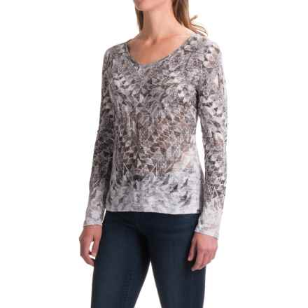 prAna Ravena Burnout Shirt - Organic Cotton, Long Sleeve (For Women) in Charcoal - Closeouts