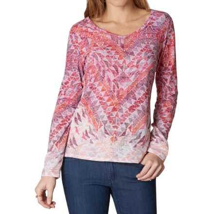 prAna Ravena Burnout Shirt - Organic Cotton, Long Sleeve (For Women) in Fireball - Closeouts