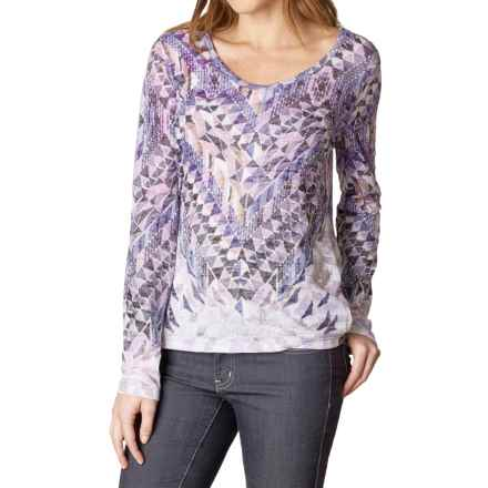 prAna Ravena Burnout Shirt - Organic Cotton, Long Sleeve (For Women) in Gray Indigo - Closeouts