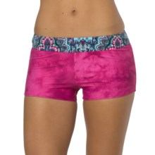 prAna Raya Swimsuit Bottoms - UPF 30+, Boy Short (For Women) in Fuchsia Namaste - Closeouts