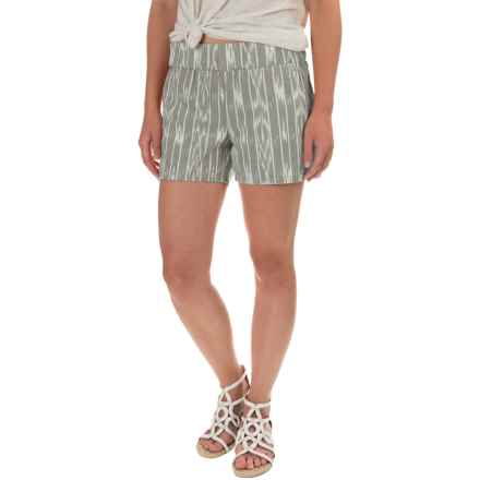 prAna Reba Shorts - Organic Cotton (For Women) in Gravel - Closeouts