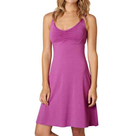 prAna Rebecca Dress - Built-in Bra, Sleeveless (For Women) in Orchid Pinstripe - Closeouts