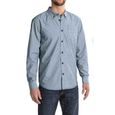prAna Reinhold Shirt - Organic Cotton, Long Sleeve (For Men) in Dark Cobalt - Closeouts
