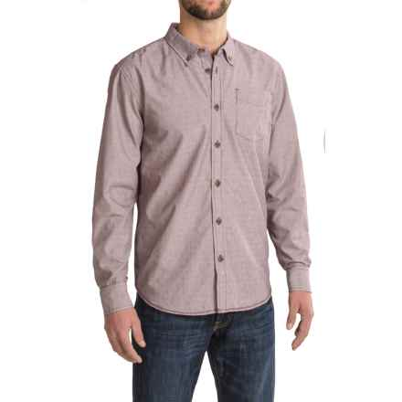 prAna Reinhold Shirt - Organic Cotton, Long Sleeve (For Men) in Eggplant - Closeouts