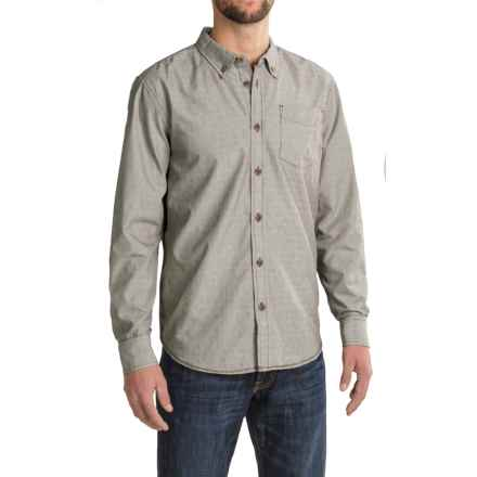 prAna Reinhold Shirt - Organic Cotton, Long Sleeve (For Men) in Mud - Closeouts