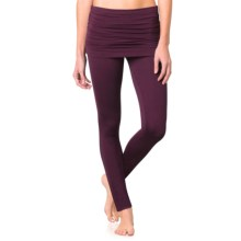 prAna Remy Leggings - Skirt Overlay (For Women) in Black Plum - Closeouts