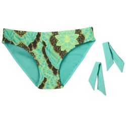 prAna Rena Reversible Swimsuit Bottoms - UPF 30+ (For Women) in Turquoise Scallop