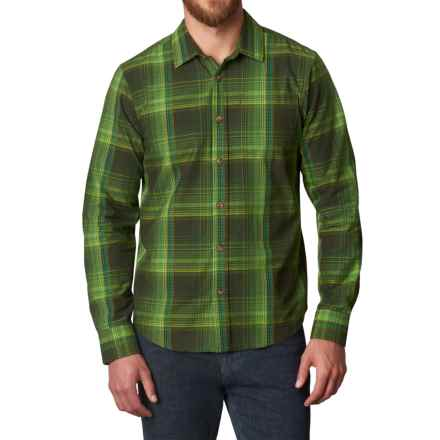prAna Rennin Shirt - Long Sleeve (For Men) in Dark Olive - Closeouts