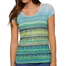 prAna Ribbon T-Shirt - Recycled Materials, Short Sleeve (For Women) in Aquative - Closeouts