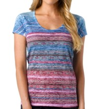 prAna Ribbon T-Shirt - Recycled Materials, Short Sleeve (For Women) in Dewberry - Closeouts