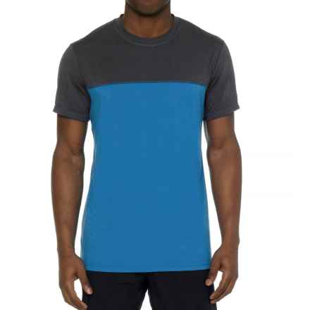 prAna Ridge Tech T-Shirt - Short Sleeve (For Men) in Classic Blue - Closeouts