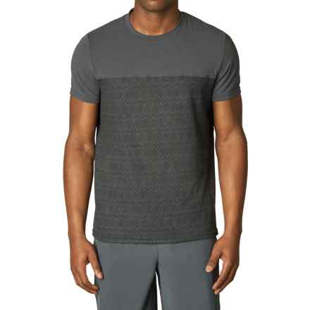 prAna Ridge Tech T-Shirt - Short Sleeve (For Men) in Coal Ridge Print - Closeouts