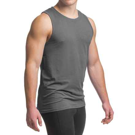 prAna Ridge Tech Tank Top - UPF 50+ (For Men) in Coal - Closeouts