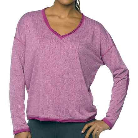 prAna Robyn Shirt - V-Neck, Long Sleeve (For Women) in Vivid Viola - Closeouts