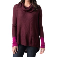 prAna Rochelle Sweater - Wool Blend, Cowl Neck (For Women) in Pomegranate - Closeouts