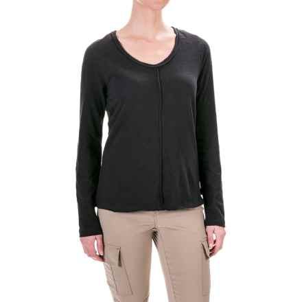 prAna Romina Shirt - Long Sleeve (For Women) in Black - Closeouts