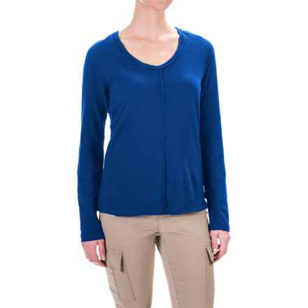 prAna Romina Shirt - Long Sleeve (For Women) in Vintage Cobalt - Closeouts