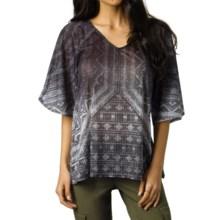 prAna Romy Shirt - V-Neck, Short Sleeve  (For Women) in Black - Closeouts
