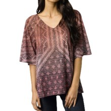 prAna Romy Shirt - V-Neck, Short Sleeve  (For Women) in Henna - Closeouts