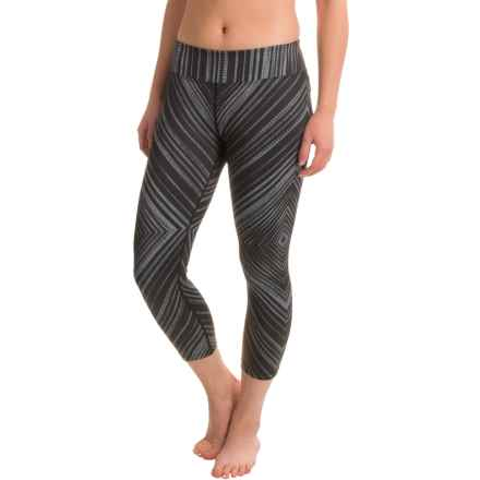 prAna Roxanne Printed Capris - Mid Rise (For Women) in Black Stripe - Closeouts