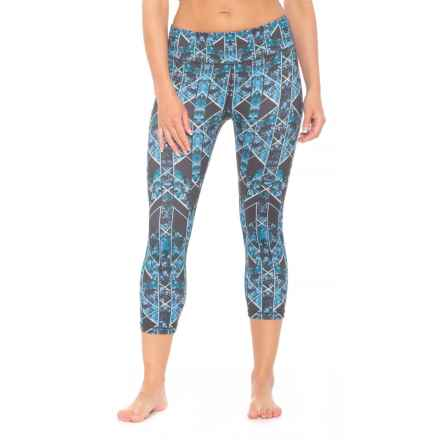 prAna Roxanne Printed Capris - Mid Rise (For Women) in Charcoal Wildflower - Closeouts