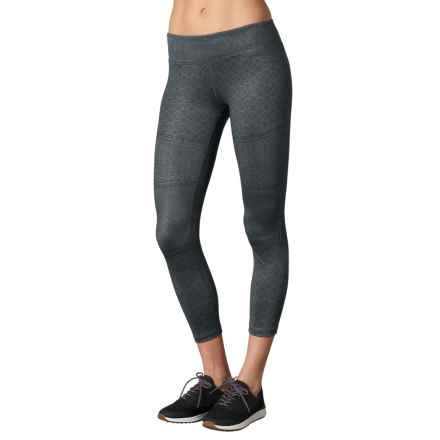 prAna Roxanne Printed Leggings - Slim Fit (For Women) in Charcoal Moto - Closeouts