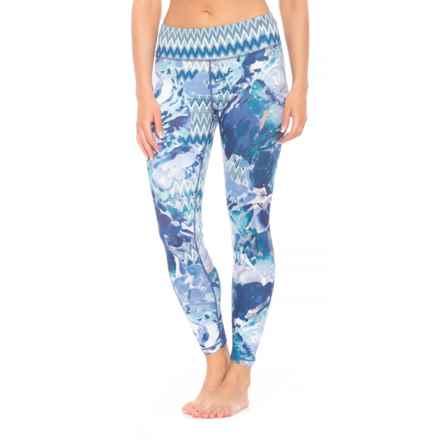 prAna Roxanne Printed Leggings - Slim Fit (For Women) in Indigo Garden - Closeouts