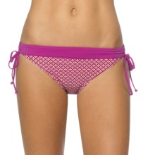 prAna Saba Bikini Bottoms - UPF 50+, Low Rise (For Women) in Fuchsia Hyannis - Closeouts