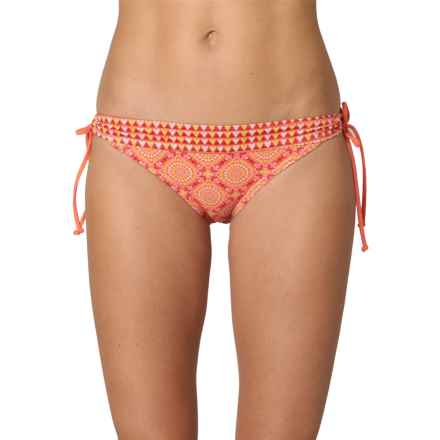 prAna Saba Bikini Bottoms - UPF 50+, Low Rise (For Women) in Neon Orange Sundial - Closeouts