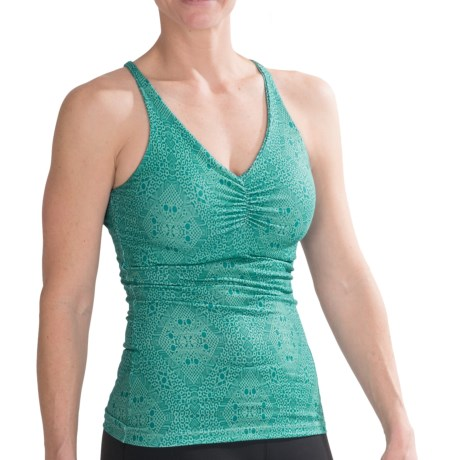 prAna Sabin Racer Tank Top - Recycled Polyester (For Women) in Turquoise Kaleidoscope