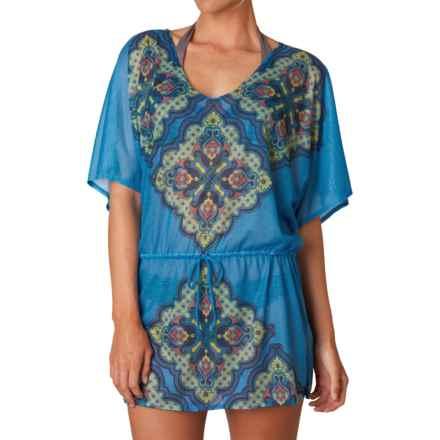 prAna Saida Kaftan Swimsuit Cover-Up - Short Sleeve (For Women) in Vivid Blue Jasmine - Closeouts