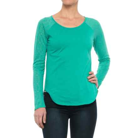 prAna Salsola Shirt - Organic Cotton, Long Sleeve (For Women) in Emerald Waters - Closeouts