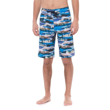 prAna Sediment Boardshorts (For Men) in Vortex Blue Indian Summer