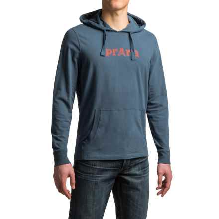 prAna Setu Hoodie Shirt - Organic Cotton, Long Sleeve (For Men) in Blue Ridge - Closeouts