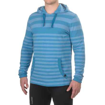 prAna Setu Hoodie Shirt - Organic Cotton, Long Sleeve (For Men) in Future Blue Stripe - Closeouts