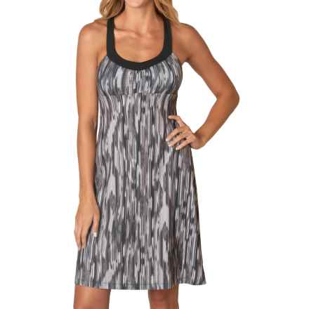 prAna Shauna Dress - Shelf Bra, Sleeveless (For Women) in Black Rainblur - Closeouts