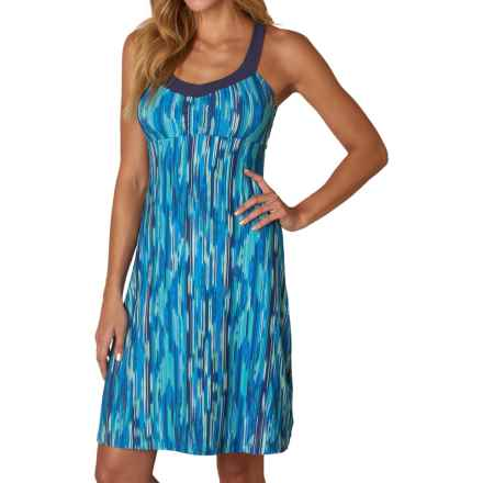 prAna Shauna Dress - Shelf Bra, Sleeveless (For Women) in Blue Rainblur - Closeouts