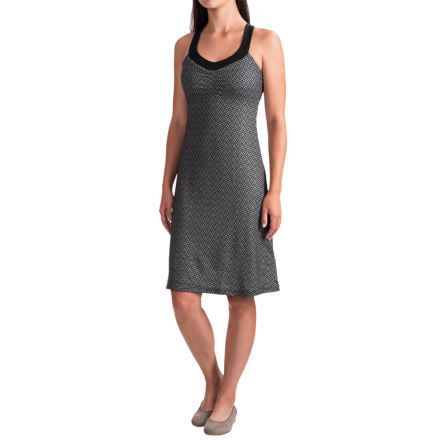 prAna Shauna Dress - Shelf Bra, Sleeveless (For Women) in Charcoal Compass - Closeouts