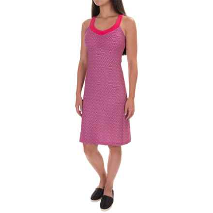 prAna Shauna Dress - Shelf Bra, Sleeveless (For Women) in Cosmo Pink Compass - Closeouts