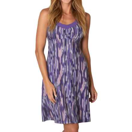 prAna Shauna Dress - Shelf Bra, Sleeveless (For Women) in Violet Rainblur - Closeouts