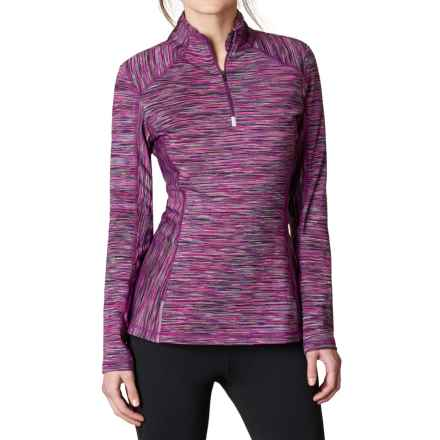 prAna Sierra Fleece Shirt - Zip Neck, Long Sleeve  (For Women) in Grapevine - Closeouts