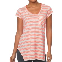 prAna Skylar Shirt - Short Sleeve (For Women) in Glowing Coral - Closeouts