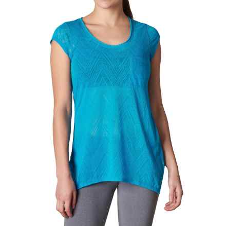 prAna Skyler Shirt - Short Sleeve (For Women) in Electro Blue - Closeouts