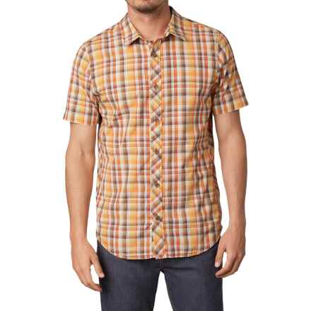 prAna Slim Fit Shirt - Button Up, Short Sleeve (For Men) in Brown - Closeouts