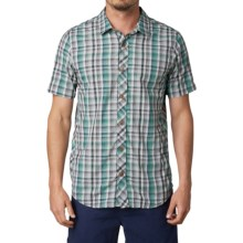 prAna Slim Fit Shirt - Button Up, Short Sleeve (For Men) in Deep Teal - Closeouts