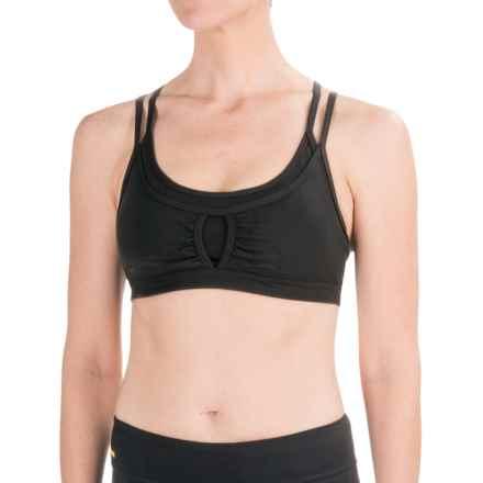 prAna Soleil Sports Bra (For Women) in Black - Closeouts