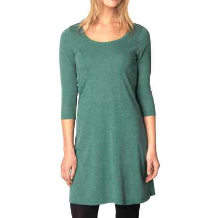prAna Soskia Dress - 3/4 Sleeve (For Women) in Harbor Blue - Closeouts
