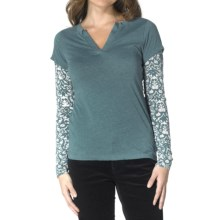 prAna Stella Shirt - Long Sleeve (For Women) in Mystic - Closeouts