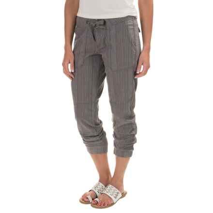 prAna Steph Joggers - Linen-Cotton (For Women) in Gravel - Closeouts